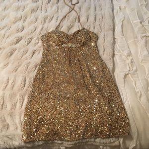 Scala Dresses - size 4 Scala gold sequin dress